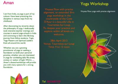 Vinyasa flow workshop