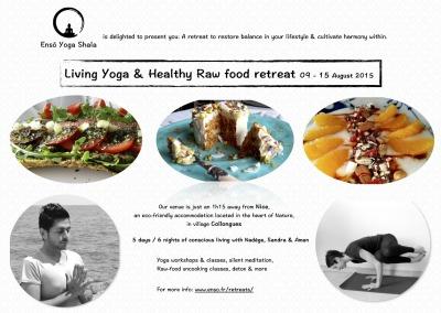 Retraite Vivre le Yoga et découverte d'un savoureux régime végétalien cru