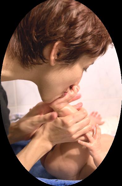 Intro au massage bébé avec Nadège